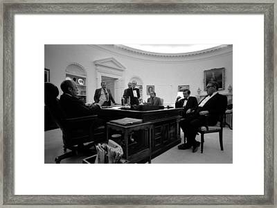President Ford And His Inner Circle Framed Print