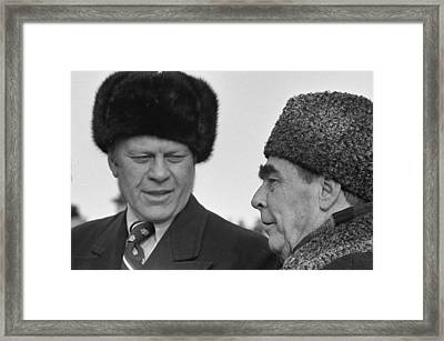 President Ford Wearing A Russian Wool Framed Print