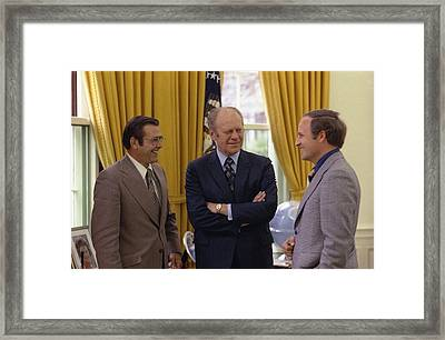 President Ford With Perennial Framed Print by Everett