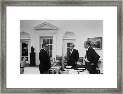 President Ford With Sec. Of State Henry Framed Print