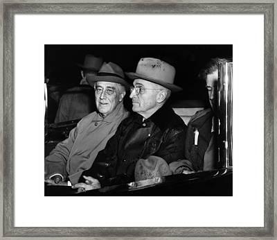 President Franklin D. Roosevelt, Vice Framed Print