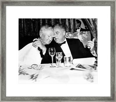 President Franklin Roosevelt And Vp Framed Print by Everett