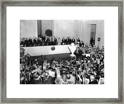 President Franklin Roosevelt Dedicated Framed Print