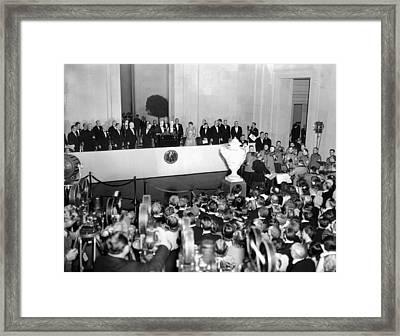 President Franklin Roosevelt Dedicated Framed Print by Everett