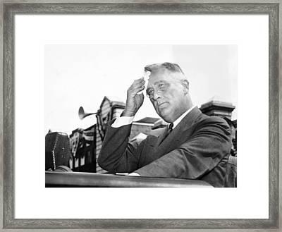President Franklin Roosevelt Mopping Framed Print by Everett