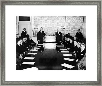 President Franklin Roosevelt Standing Framed Print