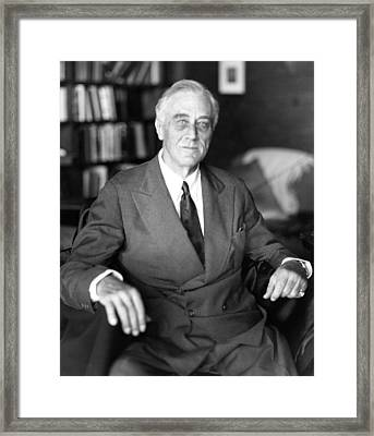 President Franklin Roosevelt The Day Framed Print by Everett