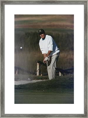President George Bush Plays Golf Framed Print by Everett