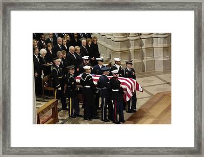 President George W. Bush Center Poses Framed Print