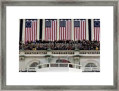 President George W. Bush Makes Framed Print by Stocktrek Images