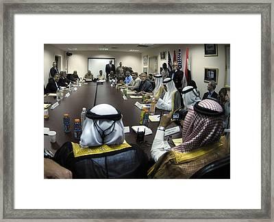 President George W. Bush Meets Framed Print