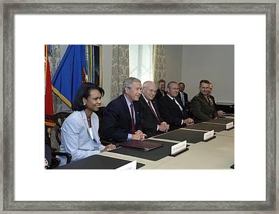 President George W. Bush Traveled Framed Print