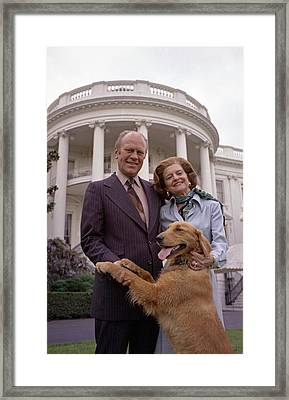 President Gerald Ford And Wife Betty Framed Print
