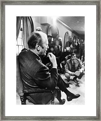 President Gerald Ford Meets Framed Print by Everett