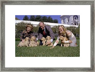 President Gerald Ford, Wife Betty Framed Print
