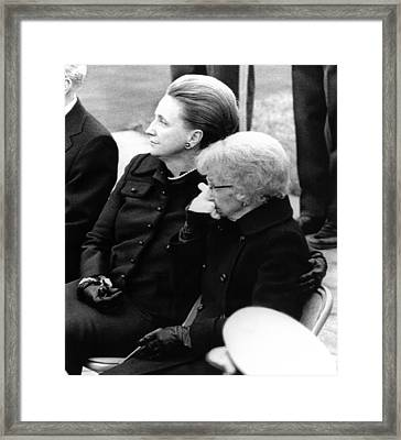 President Harry Trumans Funeral. Bess Framed Print by Everett
