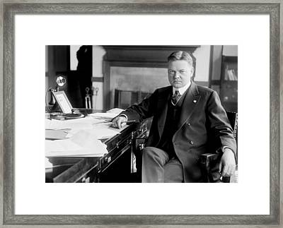 President Herbert Hoover Framed Print