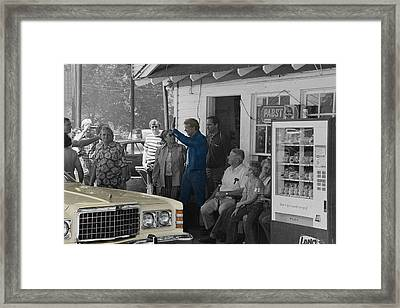 President Jimmy Carter Framed Print by Andrew Fare