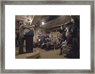 President Jimmy Carter At His 44th Framed Print