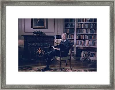President Jimmy Carter At The White Framed Print by Everett