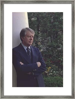 President Jimmy Carter In The White Framed Print by Everett