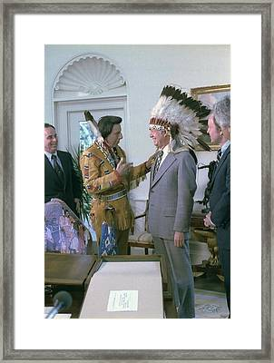 President Jimmy Carter Wearing Framed Print