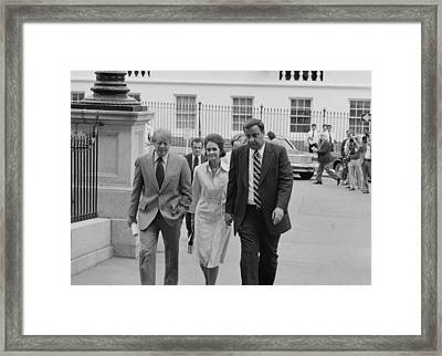 President Jimmy Carter With His Close Framed Print