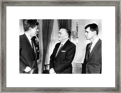 President John F. Kennedy, Fbi Director Framed Print
