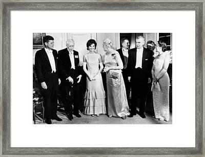 President John Kennedy Visiting Canada Framed Print