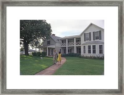 President Lyndon Johnson, Lady Bird Framed Print by Everett