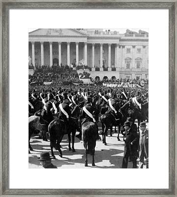 President Mckinley Delivering His Inaugural Address - C 1897 Framed Print