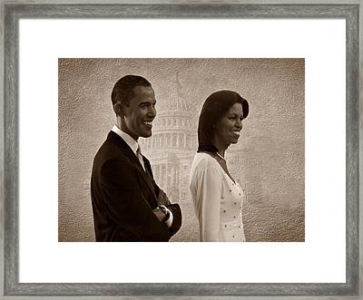 President Obama And First Lady S Framed Print