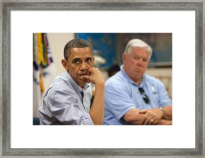 President Obama And Mississippi Framed Print