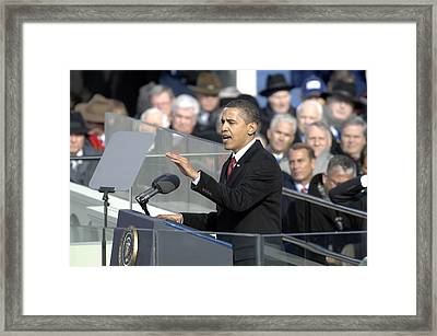 President Obama Called For A New Era Framed Print