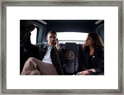 President Obama In The Presidential Framed Print