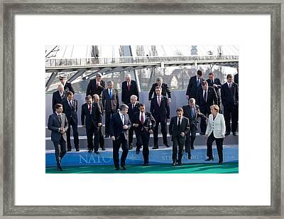 President Obama Nato Secretary General Framed Print