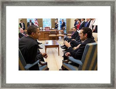 President Obama Reaffirmed Us Framed Print by Everett