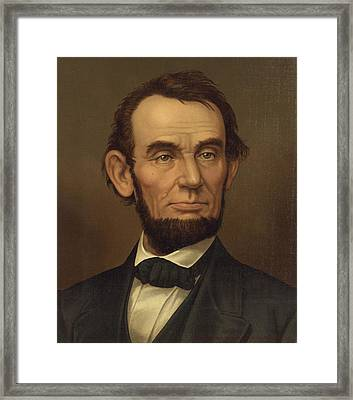 Framed Print featuring the photograph President Of The United States Of America - Abraham Lincoln  by International  Images
