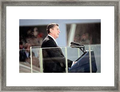 President Reagan Delivers His First Framed Print by Everett