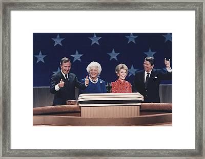 President Reagan Nancy Reagan Framed Print by Everett