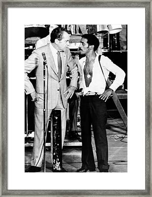 President Richard Nixon And Comedian Framed Print by Everett