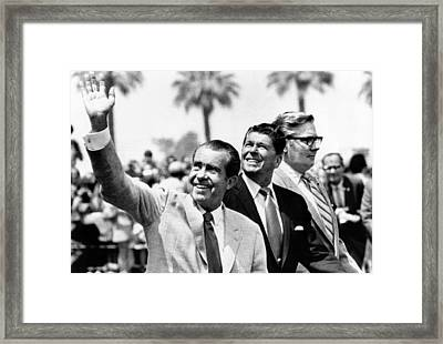 President Richard Nixon, Gov. Ronald Framed Print by Everett