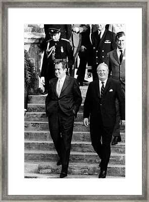 President Richard Nixon Left Framed Print by Everett