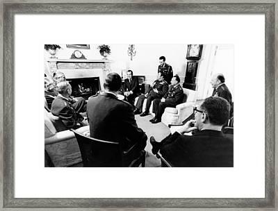 President Richard Nixon Met Framed Print