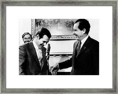 President Richard Nixon With Rep Framed Print