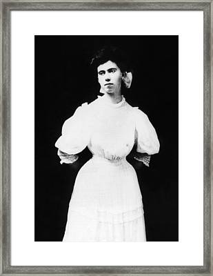 President Richard Nixons Mother, Hannah Framed Print