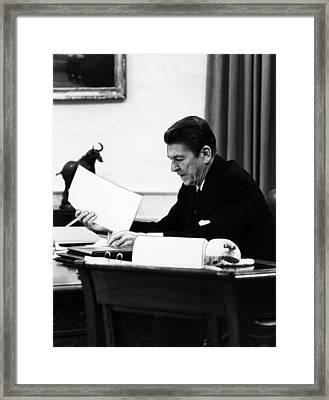 President, Ronald Reagan 1911-2004 Framed Print