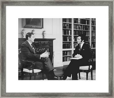 President Ronald Reagan Framed Print by Everett