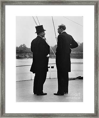 President Roosevelt And Gifford Pinchot Framed Print