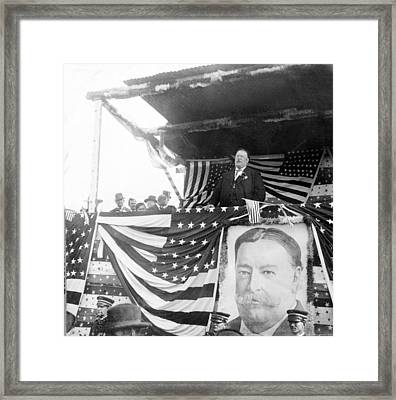 President Taft Giving A Speech In Augusta - Georgia C 1910 Framed Print by International  Images